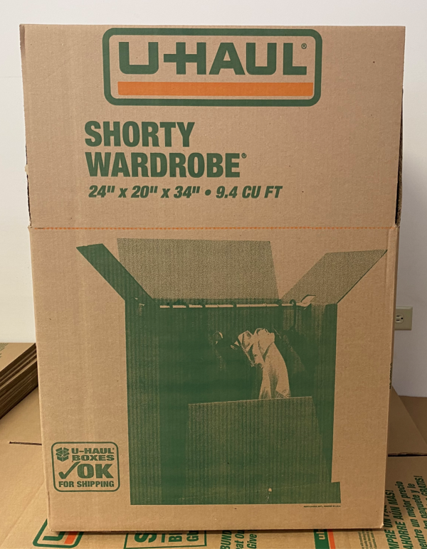AIMS Self Storage & Moving | Shorty Wardrobe Box